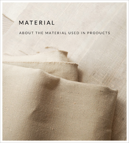 MATERIAL ABOUT THE MATERIAL USED IN PRODUCTS
